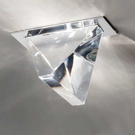 Fabbian Tripla - LED-takinbyggnadslampa av glas