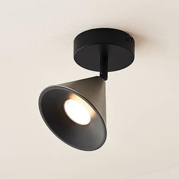 Lucande Kartio taklampe, 1 lys, dreibar, nikkel