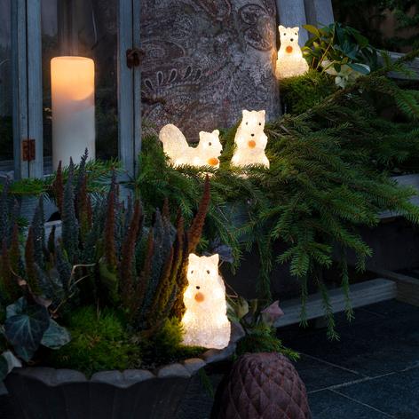 LED-Leuchtfiguren Eichhörnchen für außen, 5er-Set