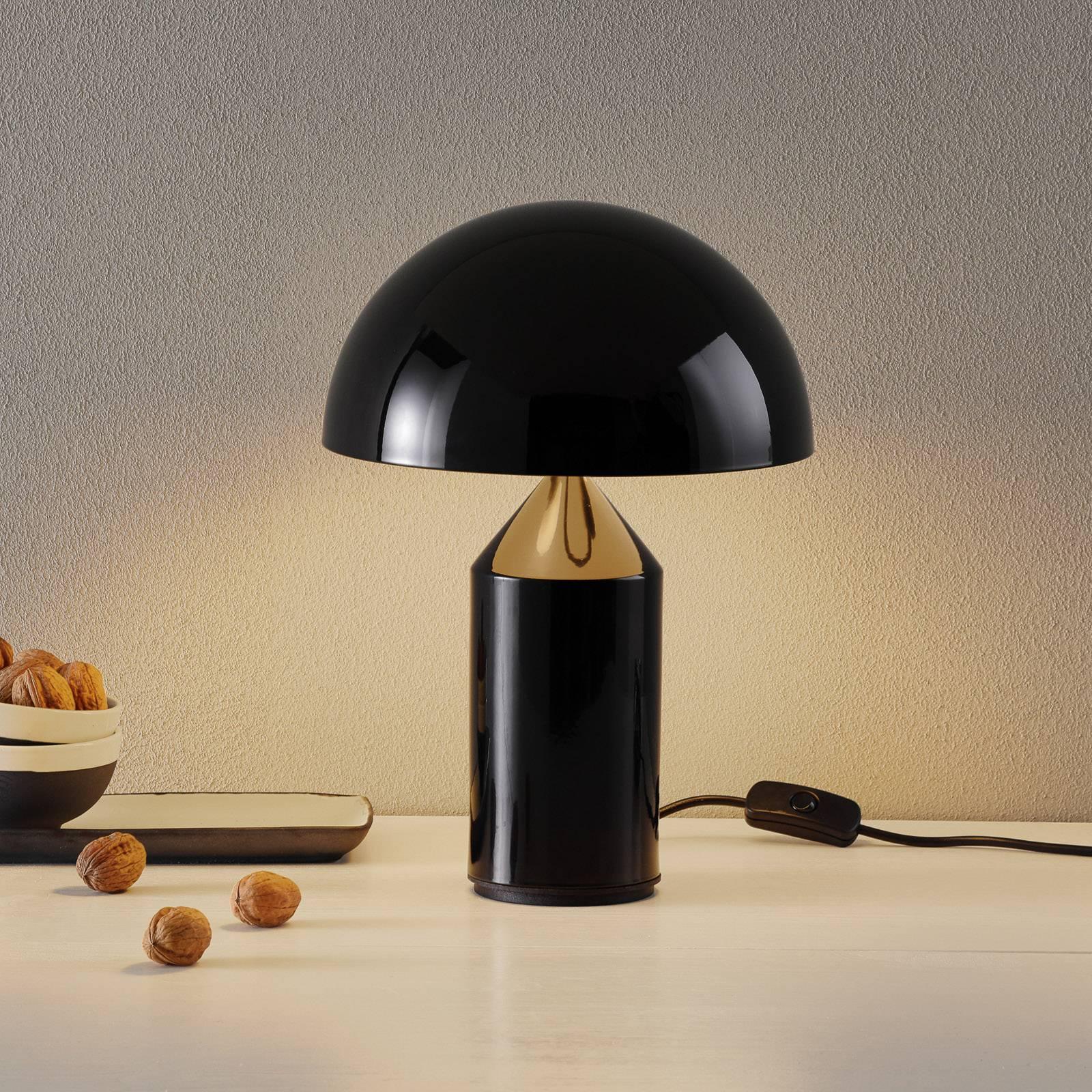 Oluce Atollo - tafellamp in zwart, 35 cm