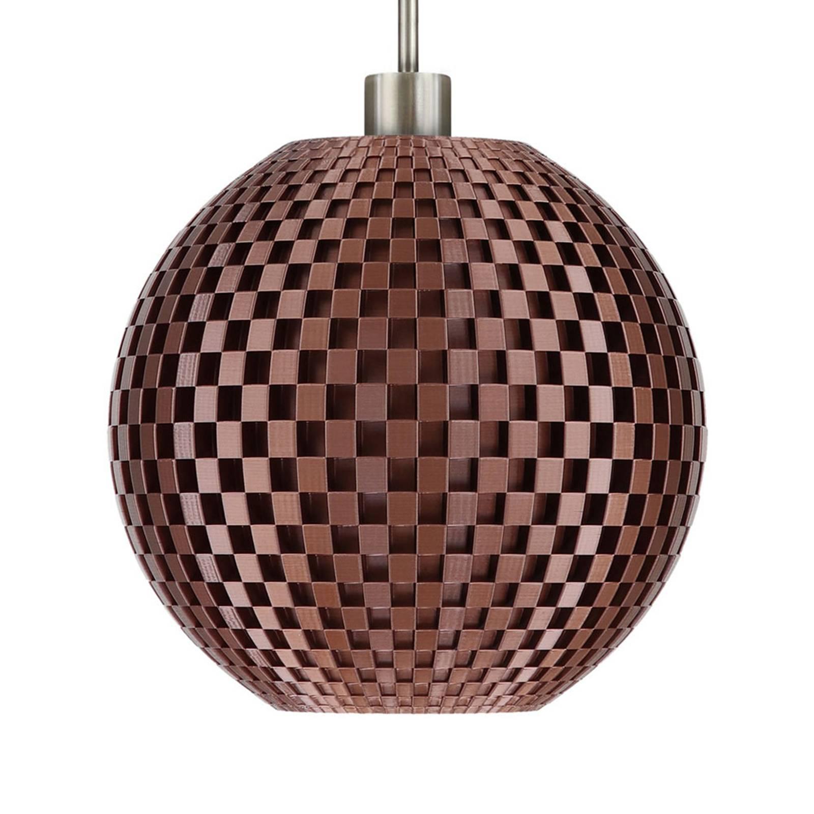 Suspension Tressage, sphère, cuivre