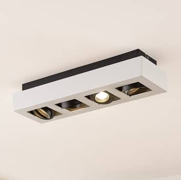 Arcchio Vince, plafondlamp, 47x14cm in wit