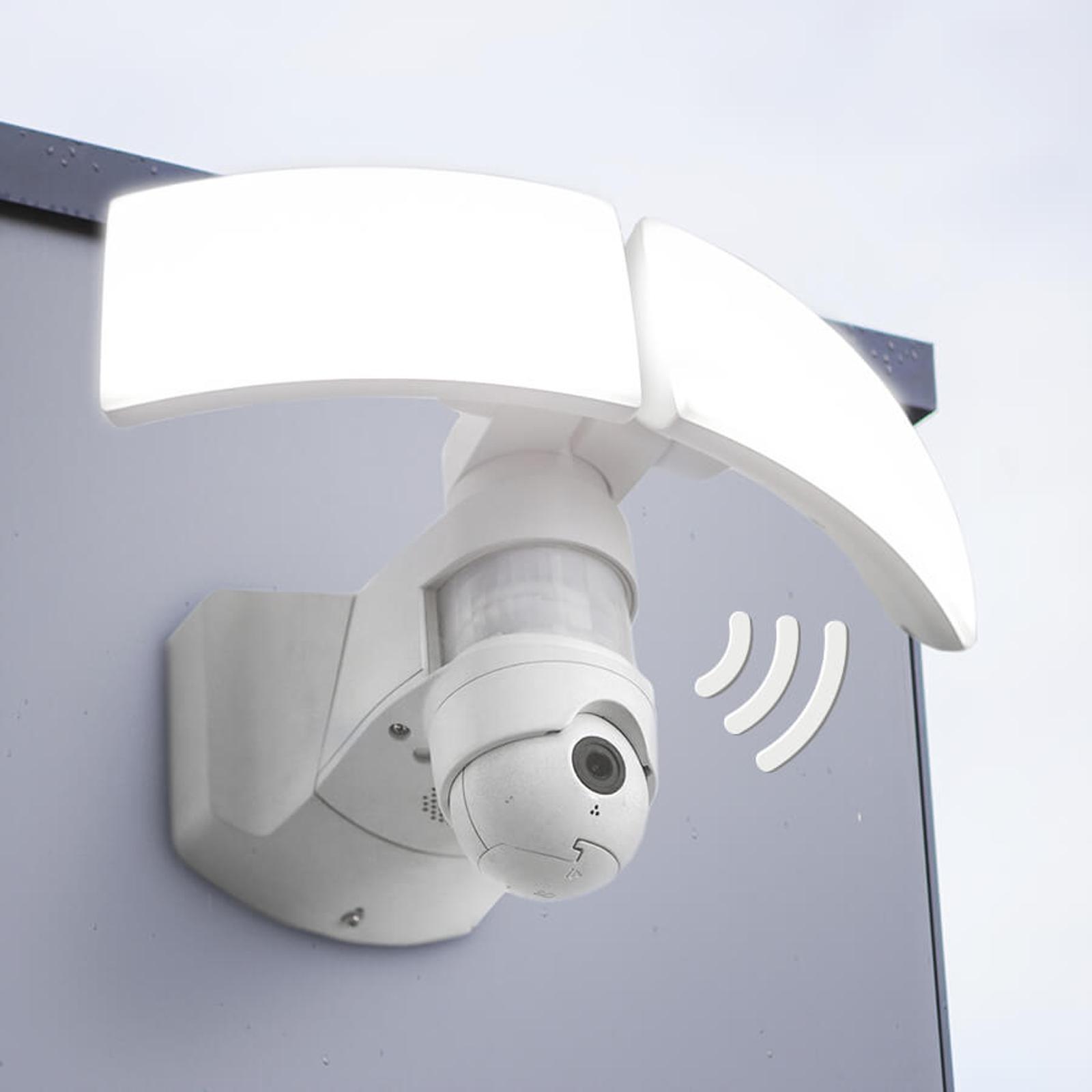 Zewnętrzna lampa ścienna LED Libra Cam z kamerą