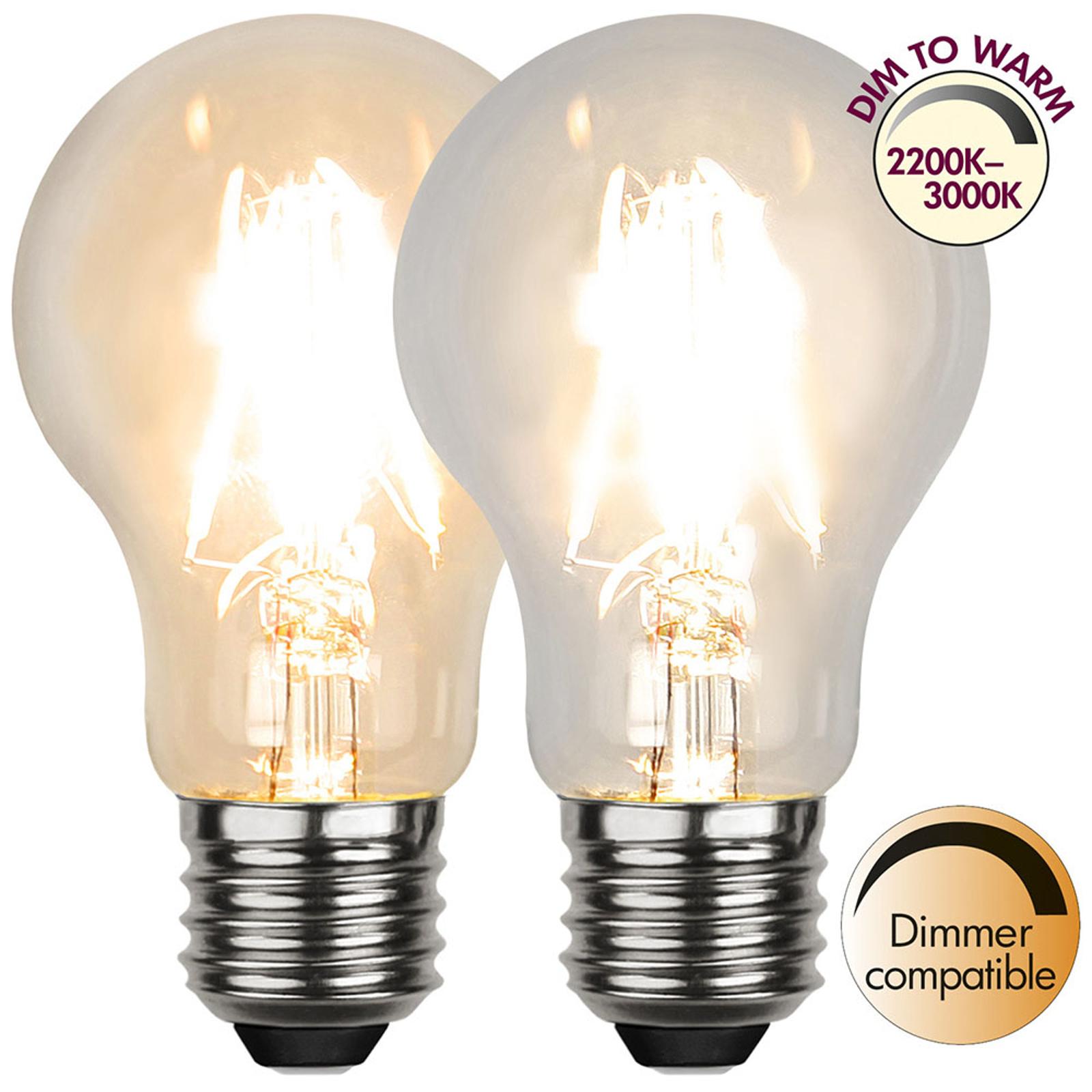 LED-Lampe E27 A60 4W 3.000K Filament, dim to warm
