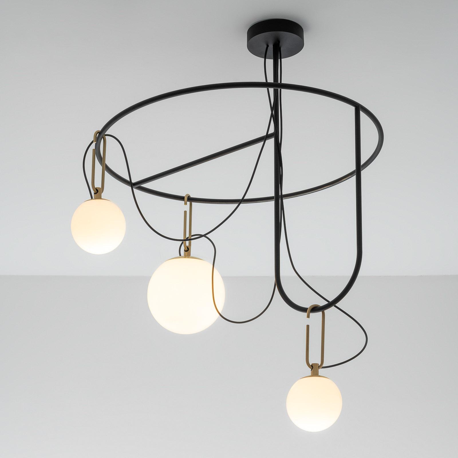 Artemide nh S4 szklana lampa wisząca, 3-punktowa
