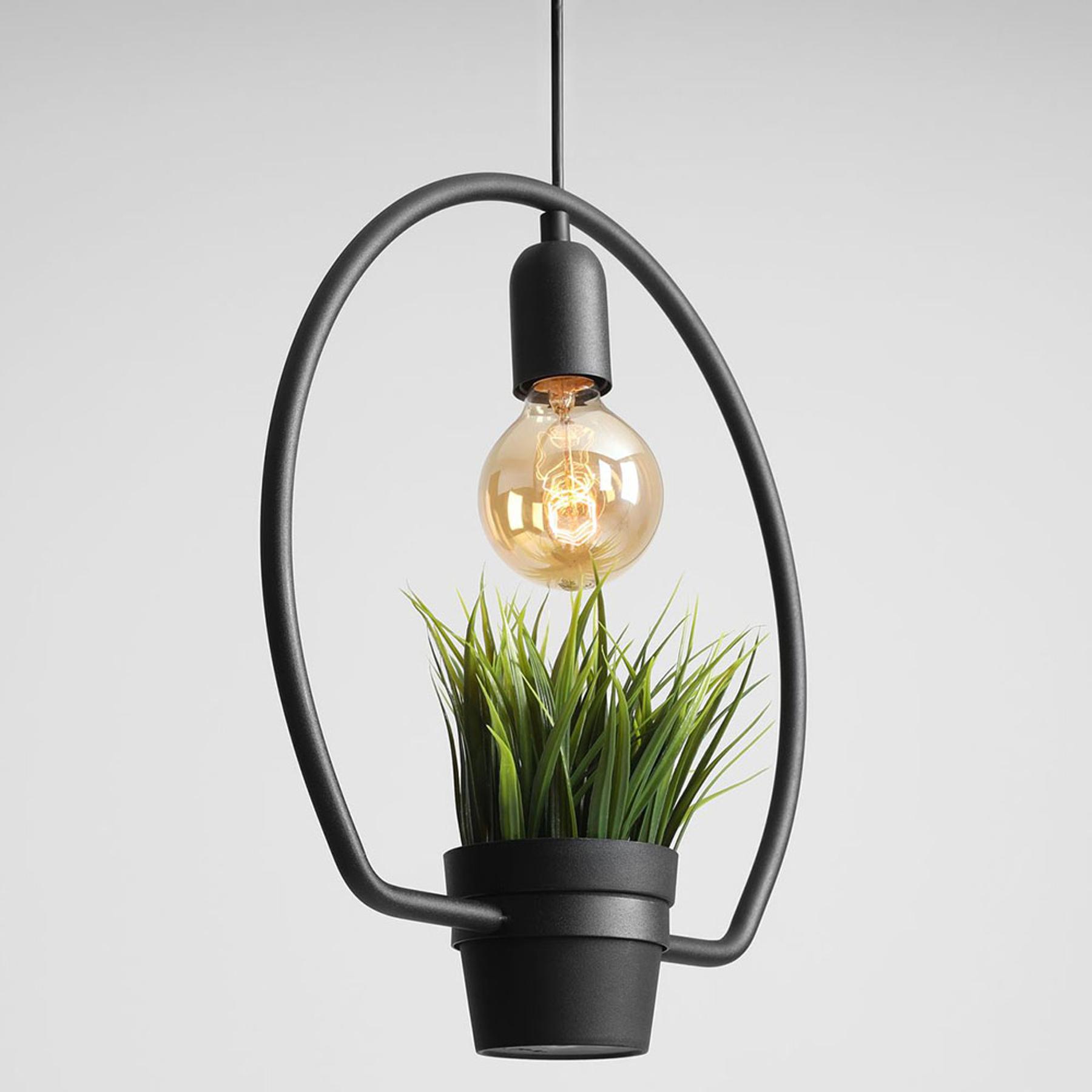 Lampa wisząca 975 szklany dekor pierścieniowa rama