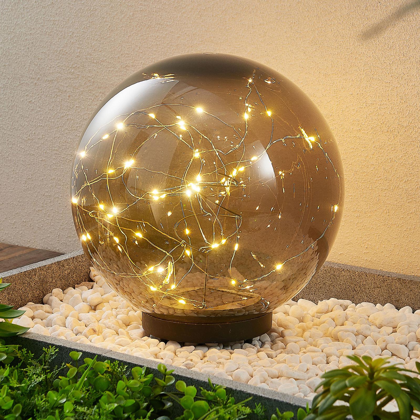 Lindby Tjelle LED-Solarleuchte, Kugel, Ø 30 cm