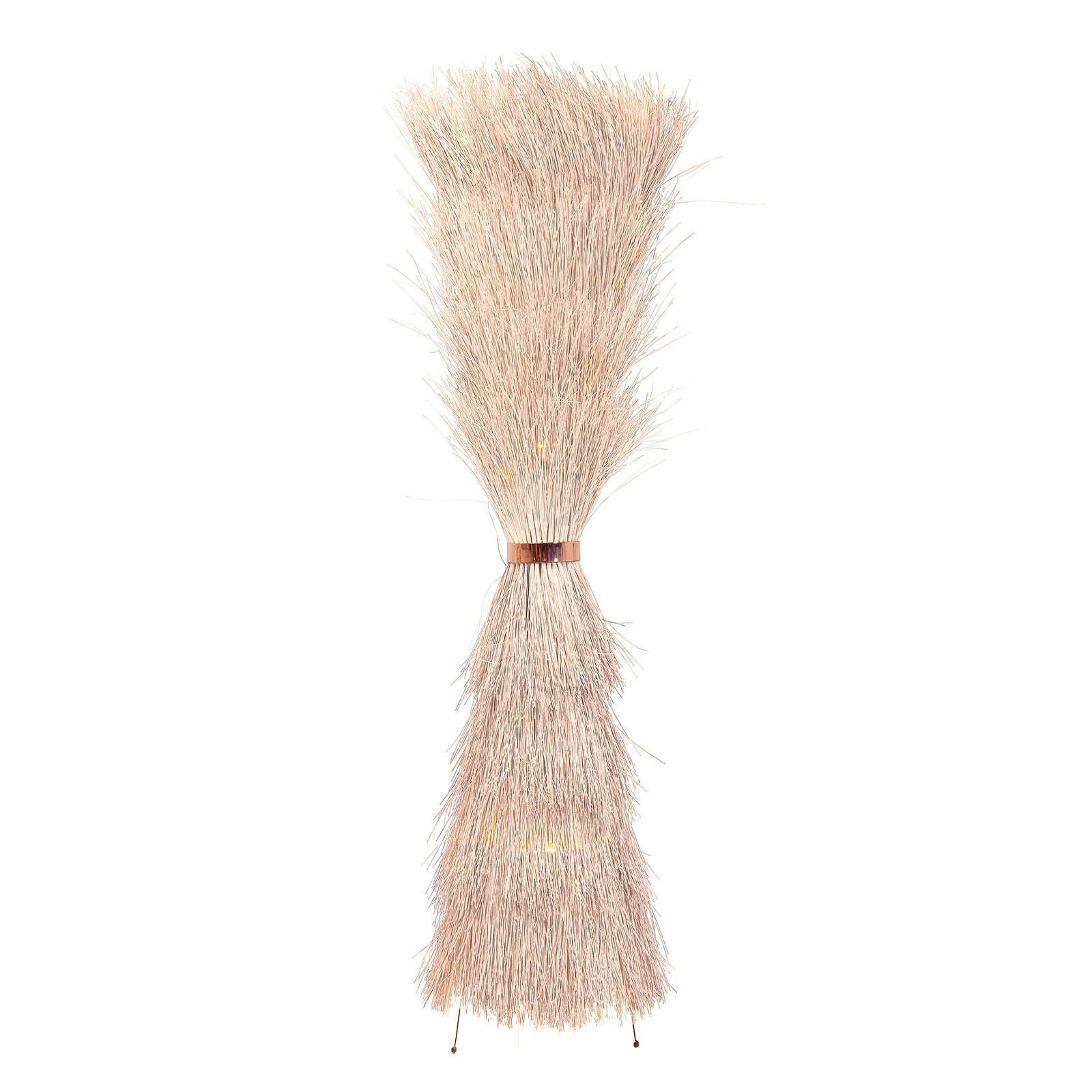 KARE Straw lampa podłogowa z ratanu
