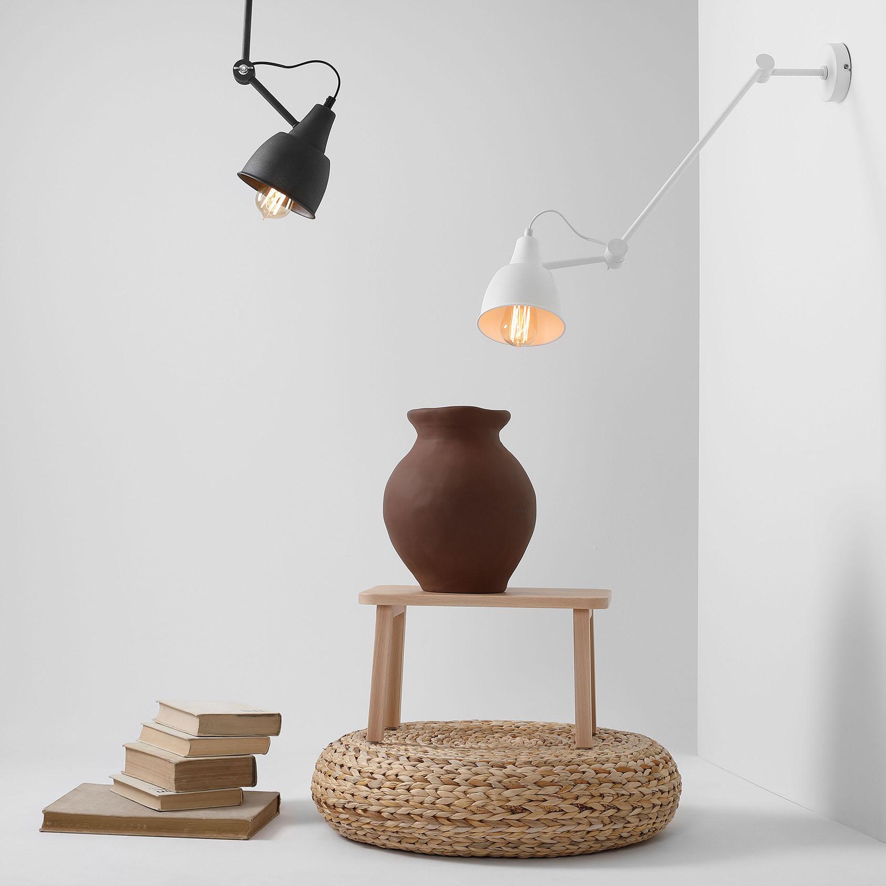 Wandlamp 814, verstelbaar, 1-lamp, wit