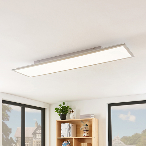 Lindby Stenley panel LED, 4000K, 119 cm x 29 cm