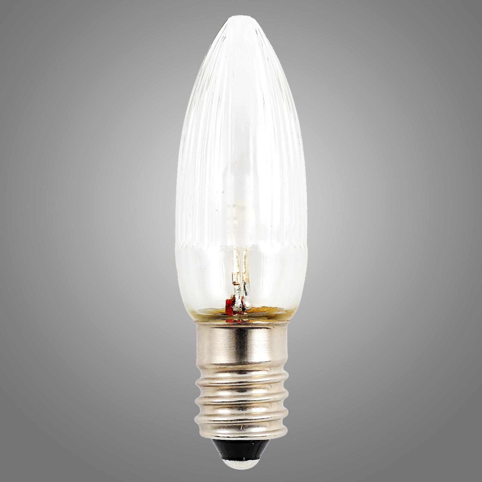 E10 24V 0,3W LED-ersättningslampa 3-pack