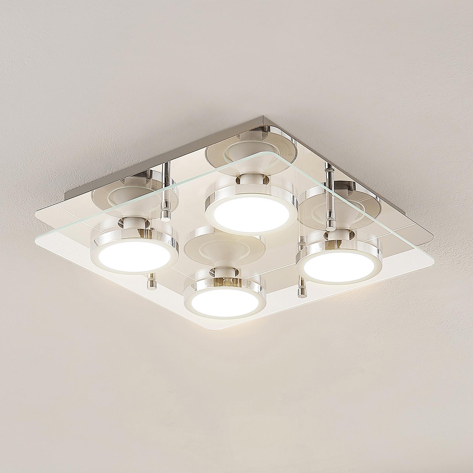 Lindby Gabryl lámpara LED de techo, 4 luces