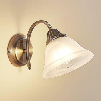 Zahnutá nástěnná lampa Mialina