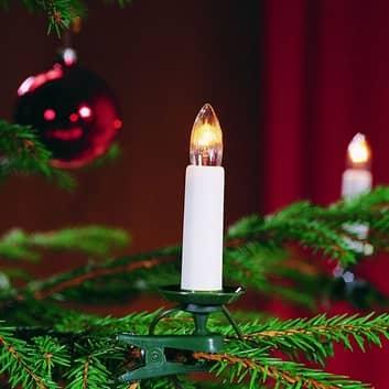 Lyskæde til træ, med 16 lys, 9,1 m, delbart stik