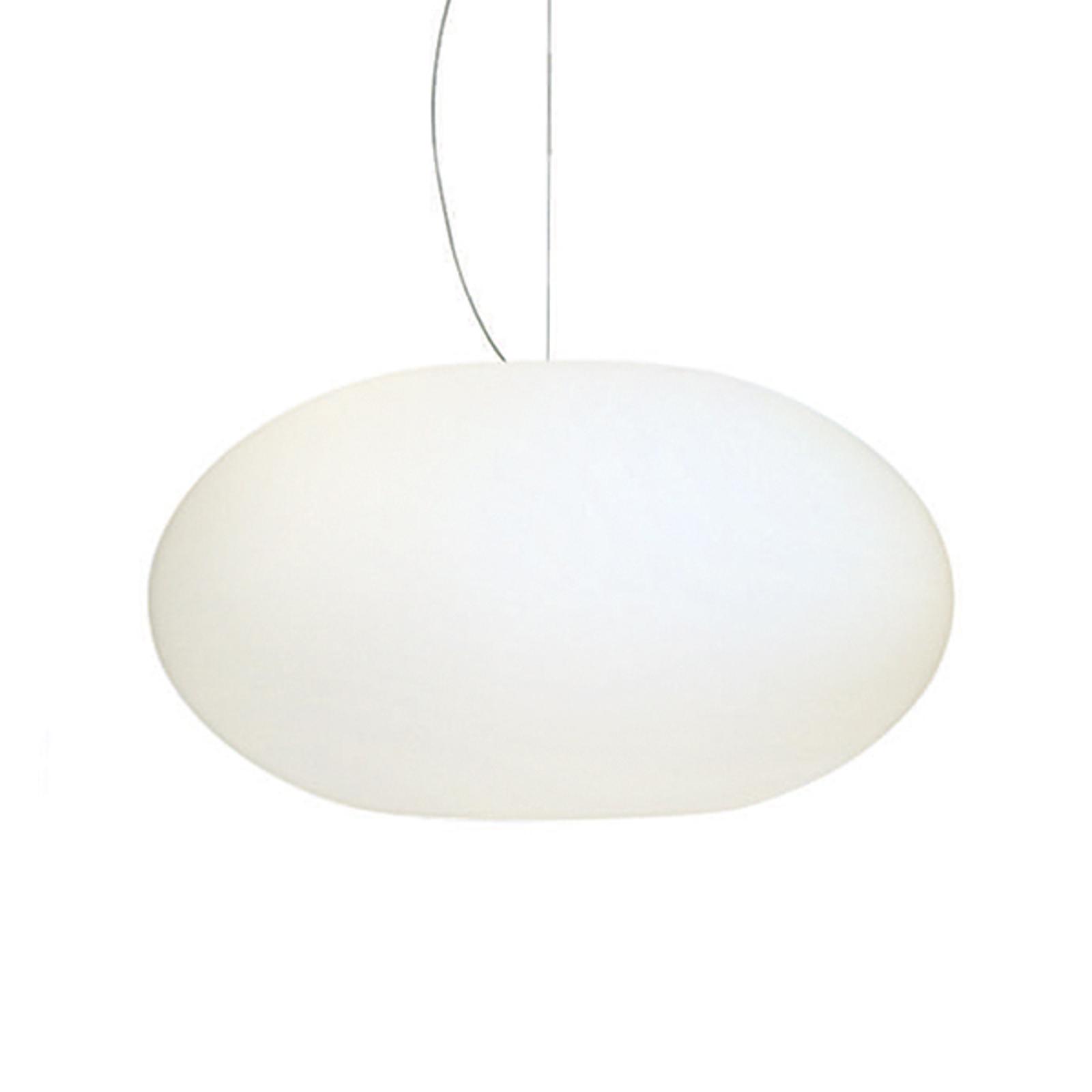 Szklana lampa wisząca AIH 38 cm biała