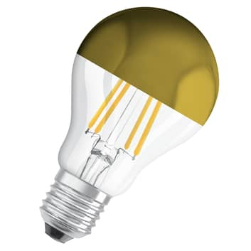 OSRAM żarówka LED E27 Mirror gold 7W 2700K