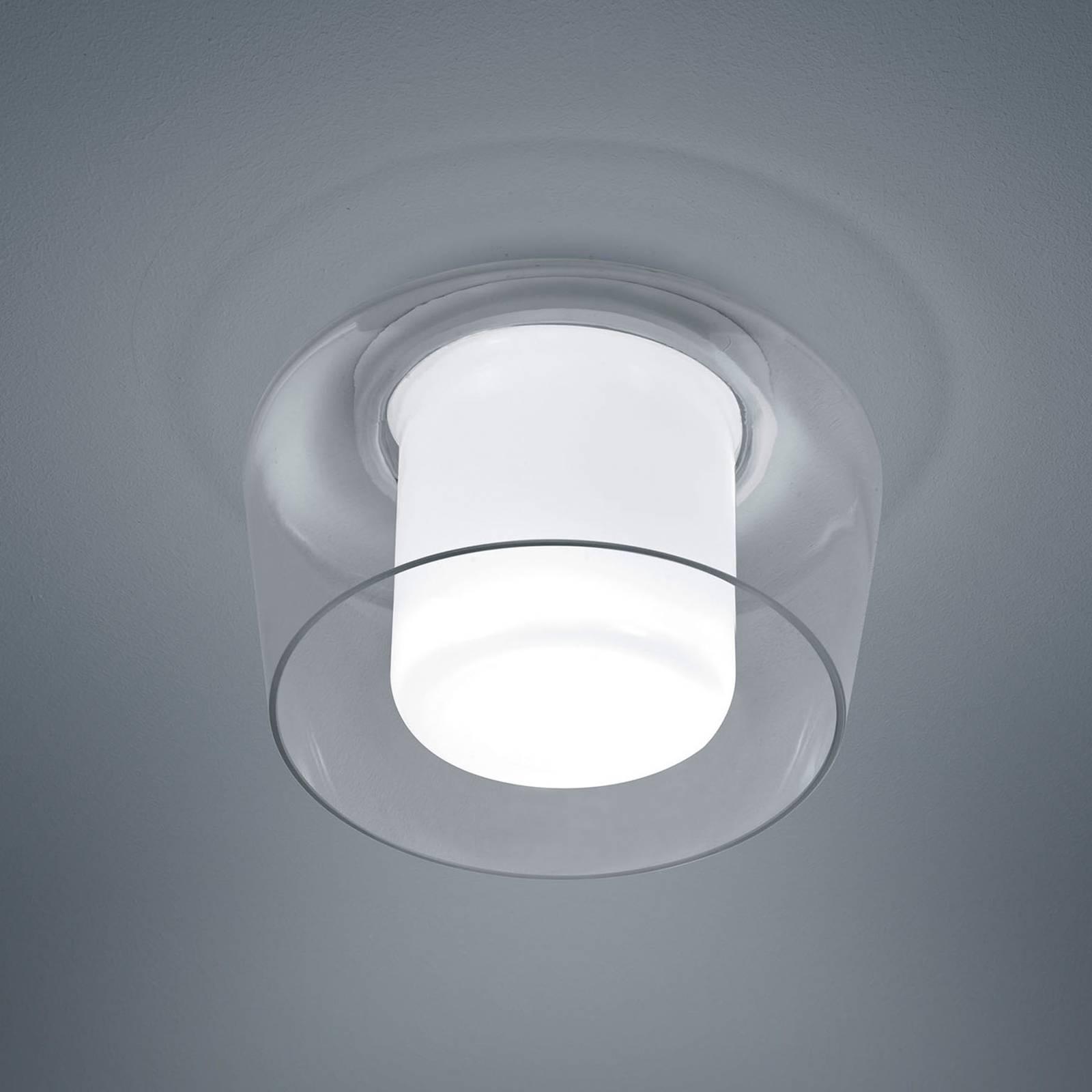 Helestra Canio Glas-Deckenleuchte, außen klar
