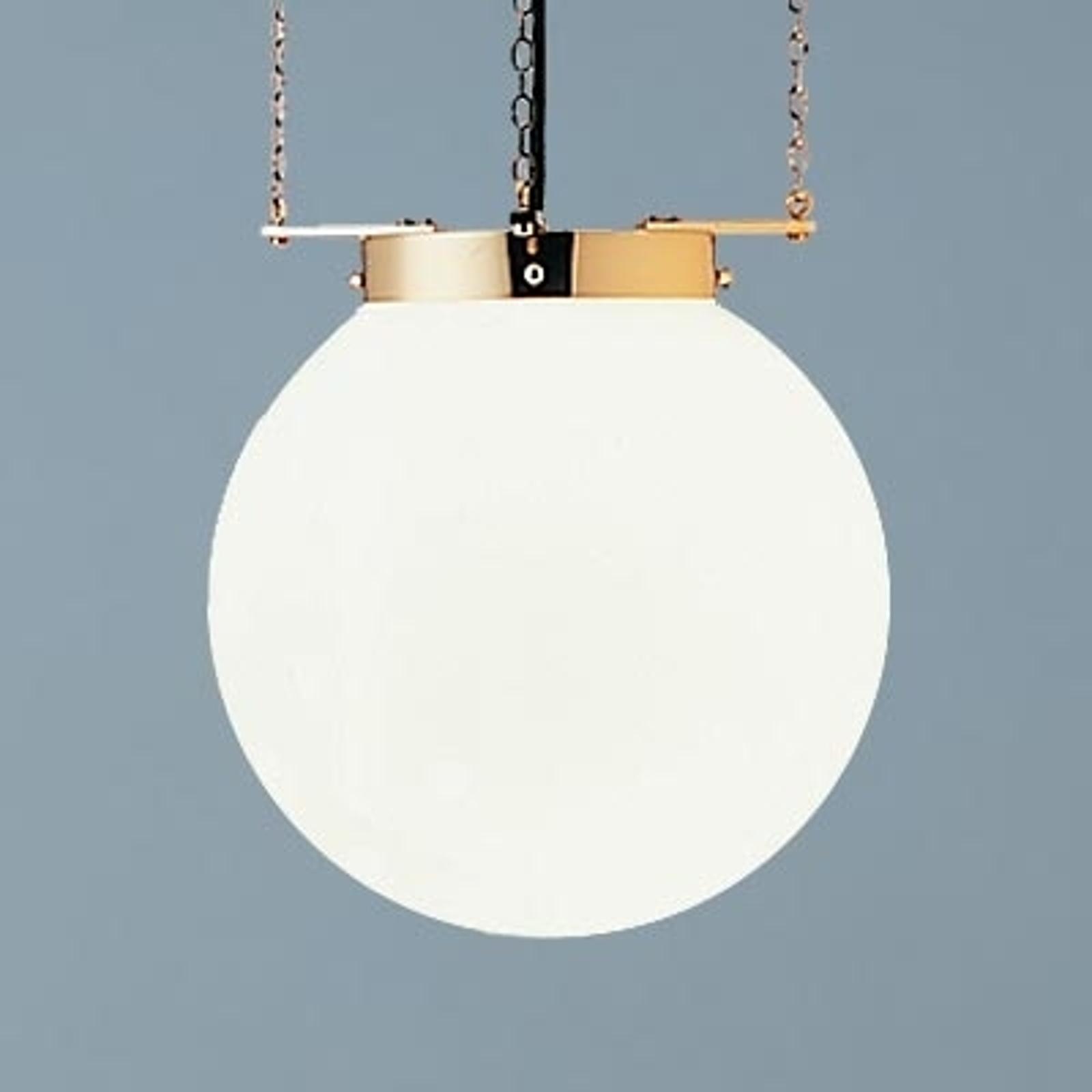 Lampa wisząca w stylu Bauhaus mosiądz 30 cm
