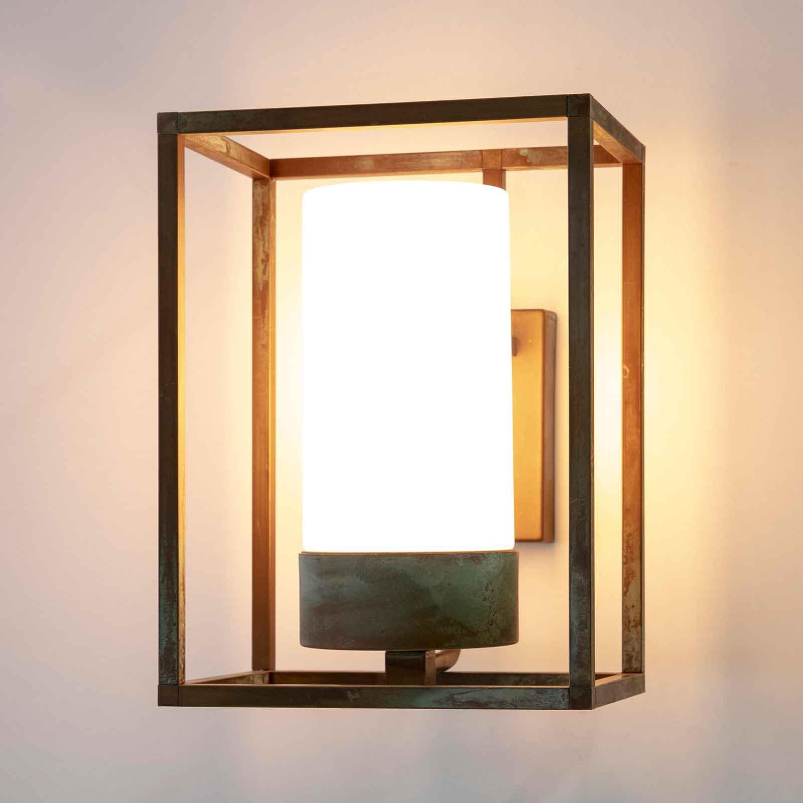 Applique da esterni Cubic³ 3363 ottone/opale
