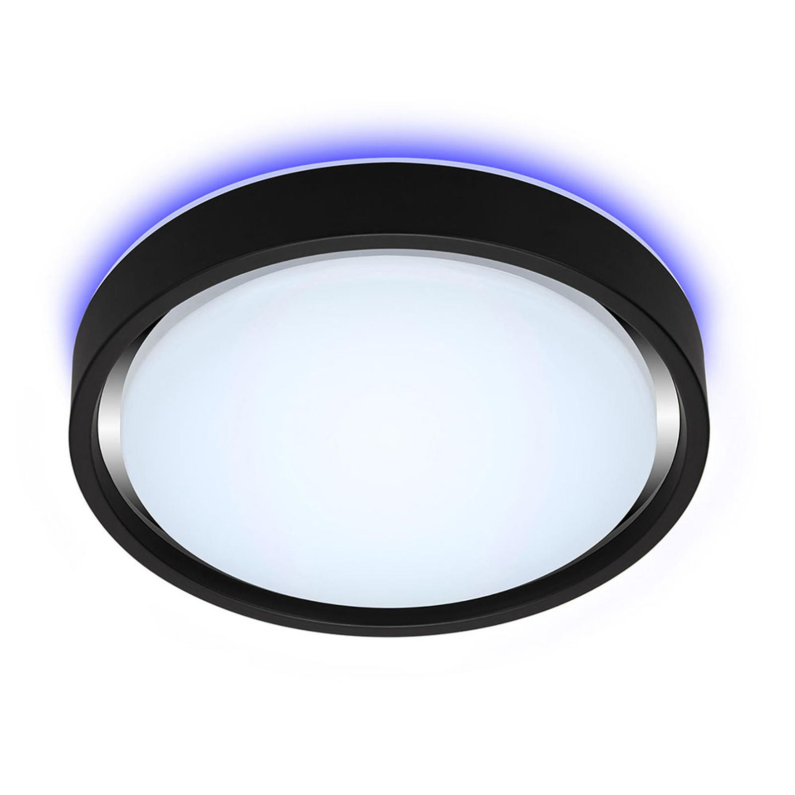 LED-taklampe Talena M RGB CCT, sensor, svart