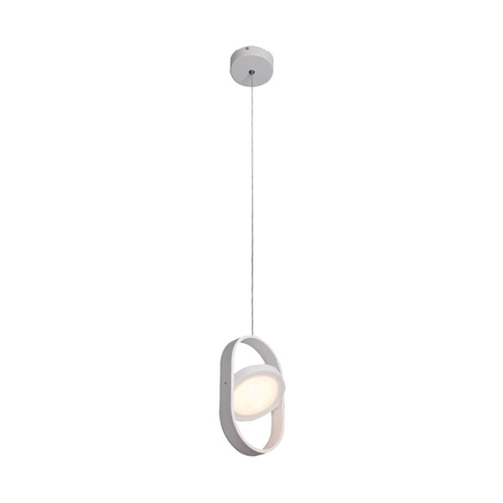 Lampa wisząca LED Rena, wychylana, biała