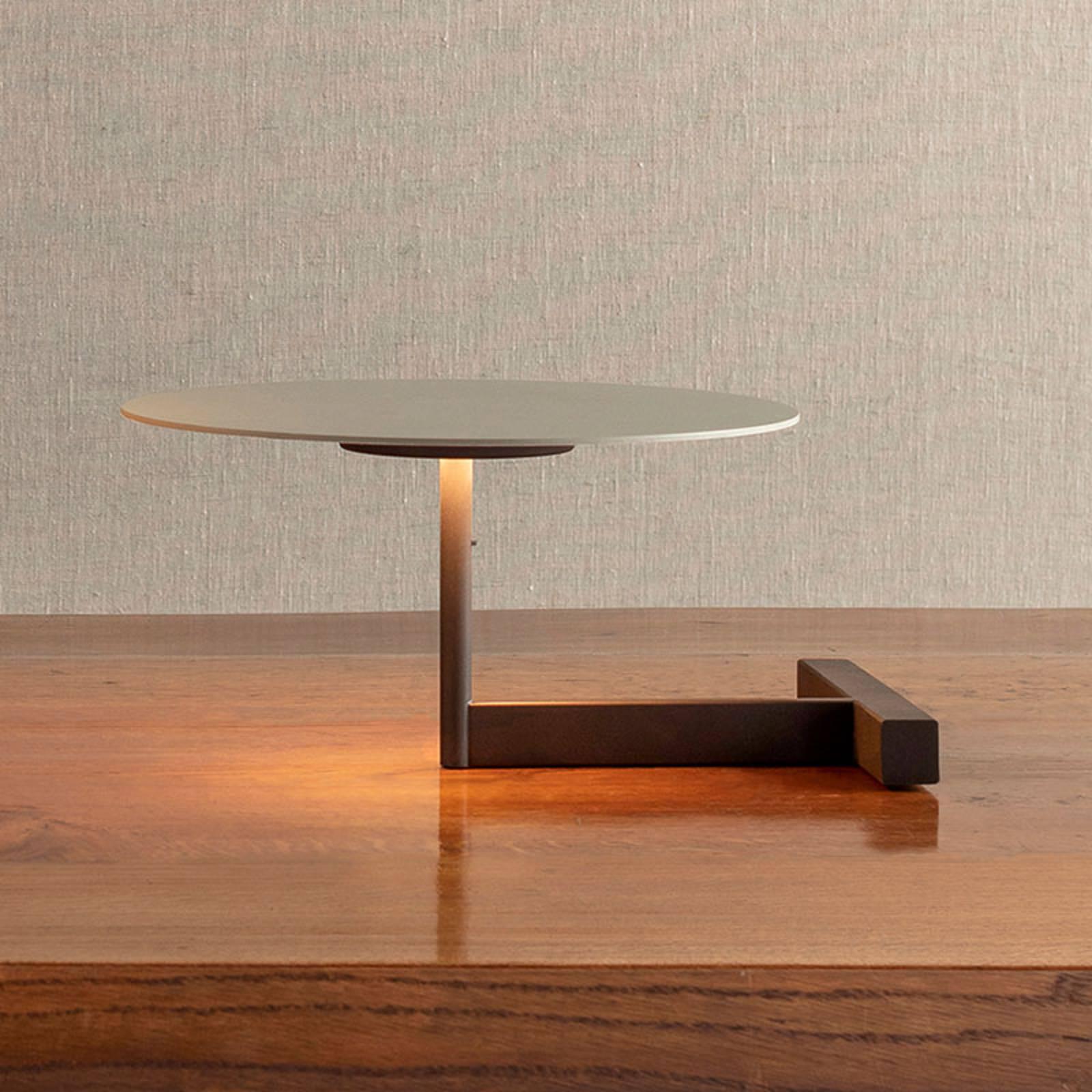 Vibia Flat lampe à poser LED 16cm grise L1