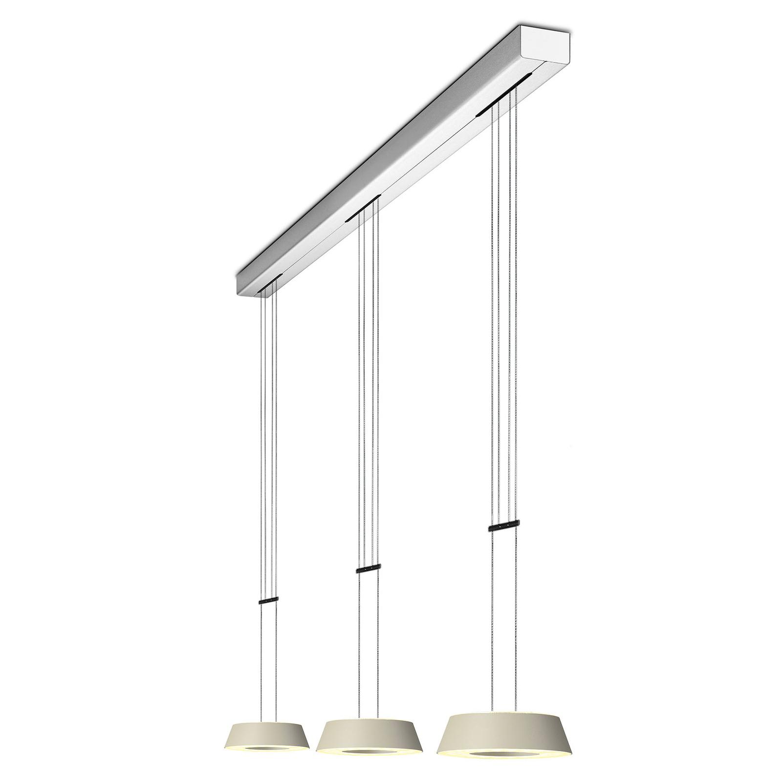 OLIGO Glance LED-Pendellampe dreiflammig cashmere