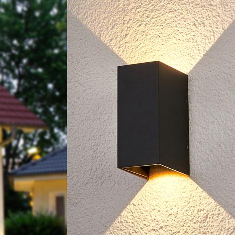 Tweezijdig oplichtende LED wandlamp Kimian, buiten