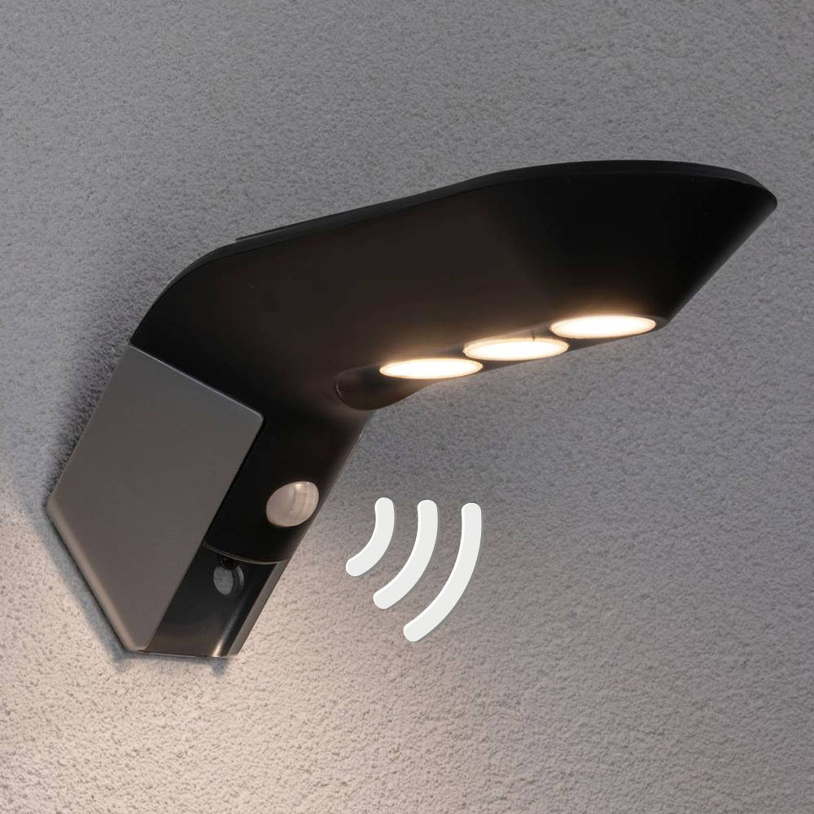 Paulmann LED solar-buitenwandlamp Soley antraciet