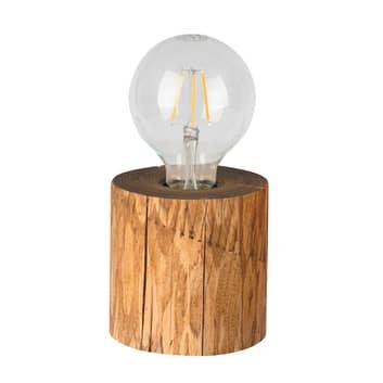 Lampada da tavolo Trabo di legno di pino