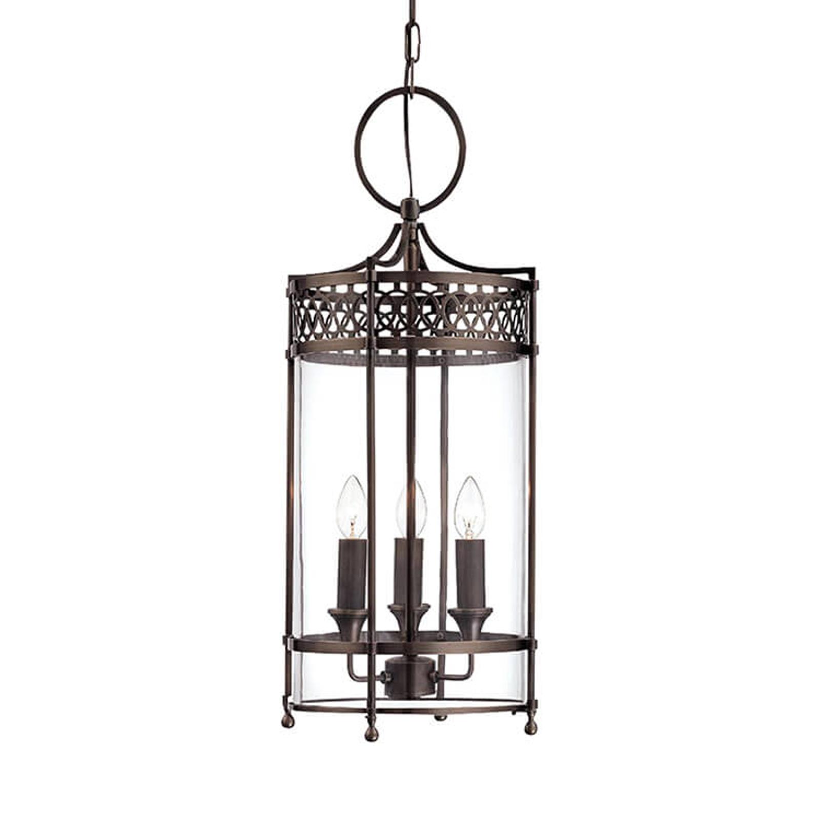 Hanglamp Guildhall, lantaarnvorm in brons