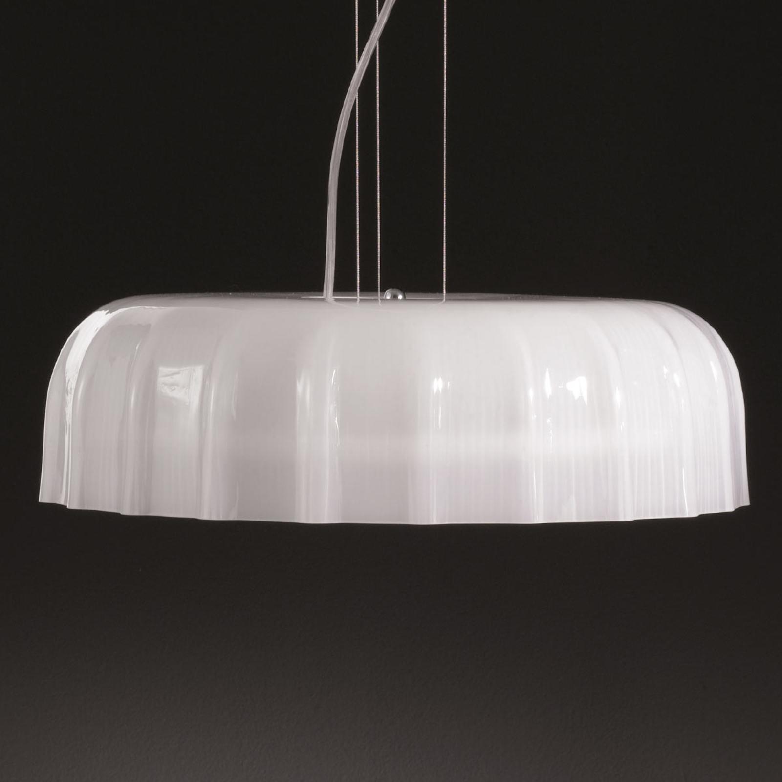 Nowoczesna lampa wisząca Big Cap biała