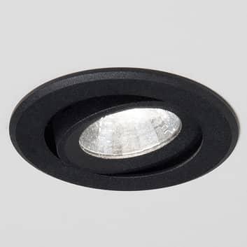 LED-uppospotti Agon Round 3000K, 40°, musta