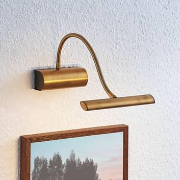 Lámpara LED para cuadros Rakel, latón envejecido