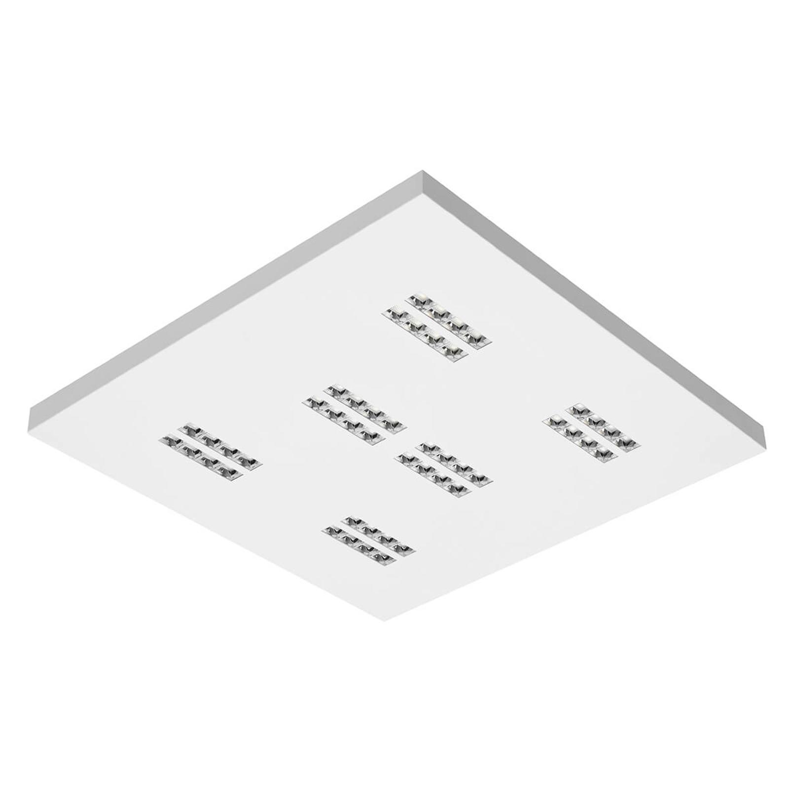 Plafonnier LED Declan II SS1 carré, 3000K