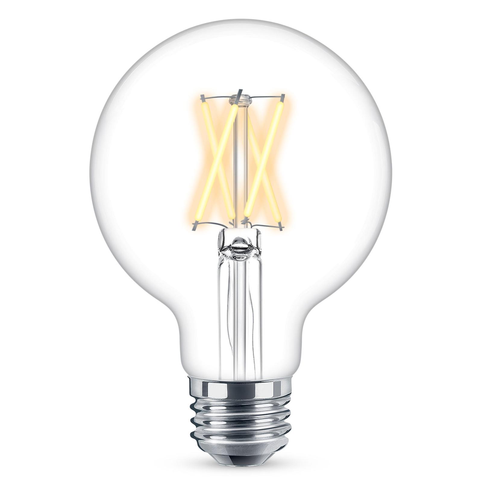 WiZ E27 LED G95 filament transp. 6,5W 2200-5500K
