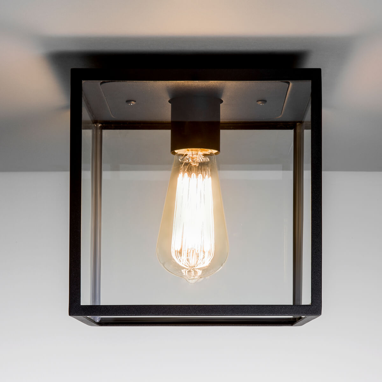 In de trendy vintage stijl - plafondlamp Box