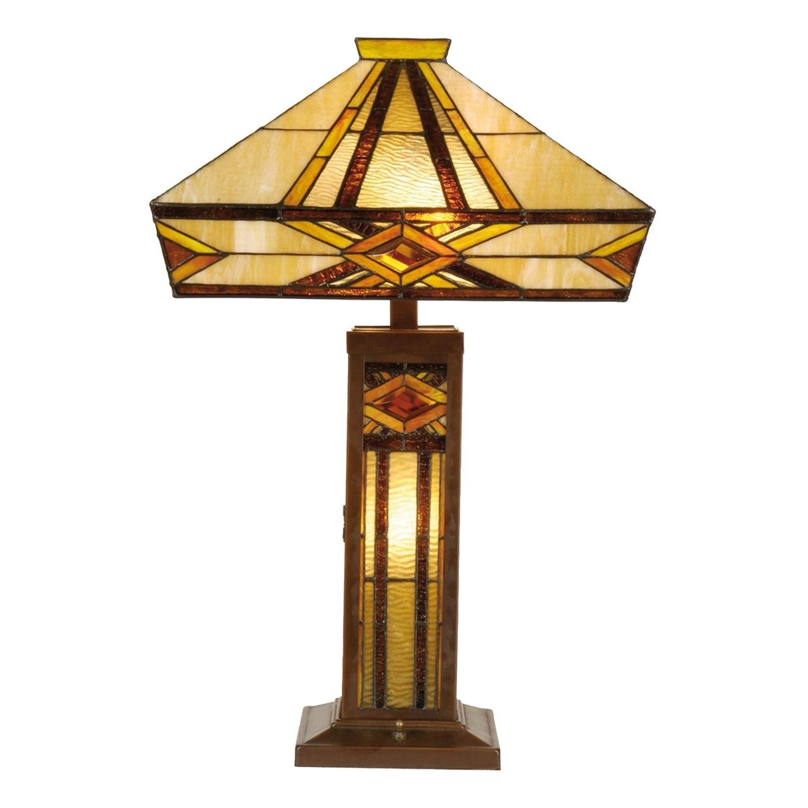 Hell erleuchtete Tischleuchte Glenys, Tiffany-Stil