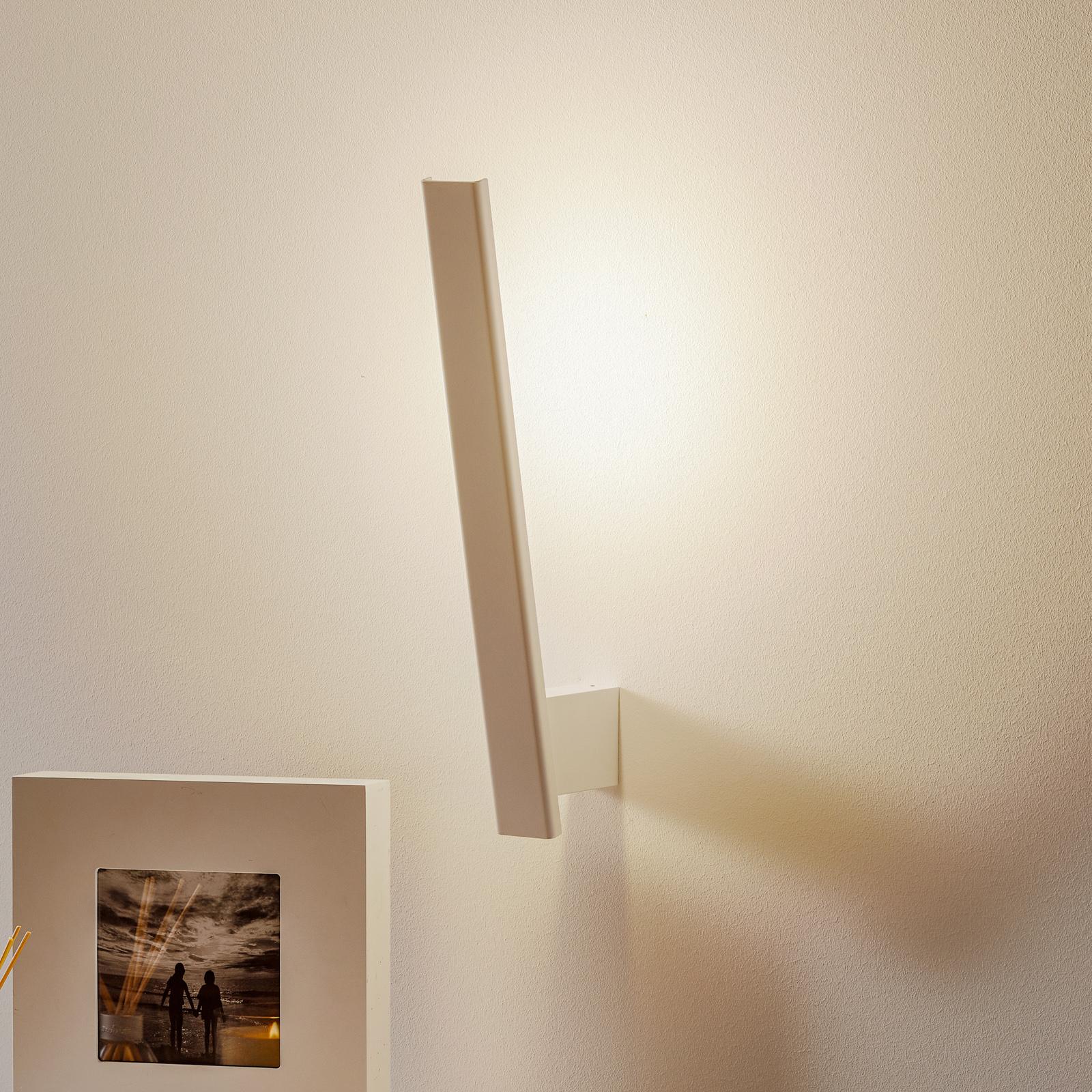Smal LED-vegglampe Flik, hvit
