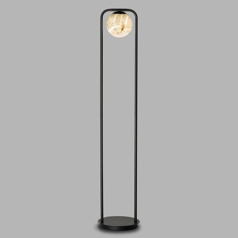 LED-Stehleuchte Tribeca mit Alabaster einflammig