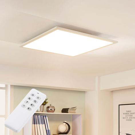 Plafonnier LED carré Lysander avec variateur