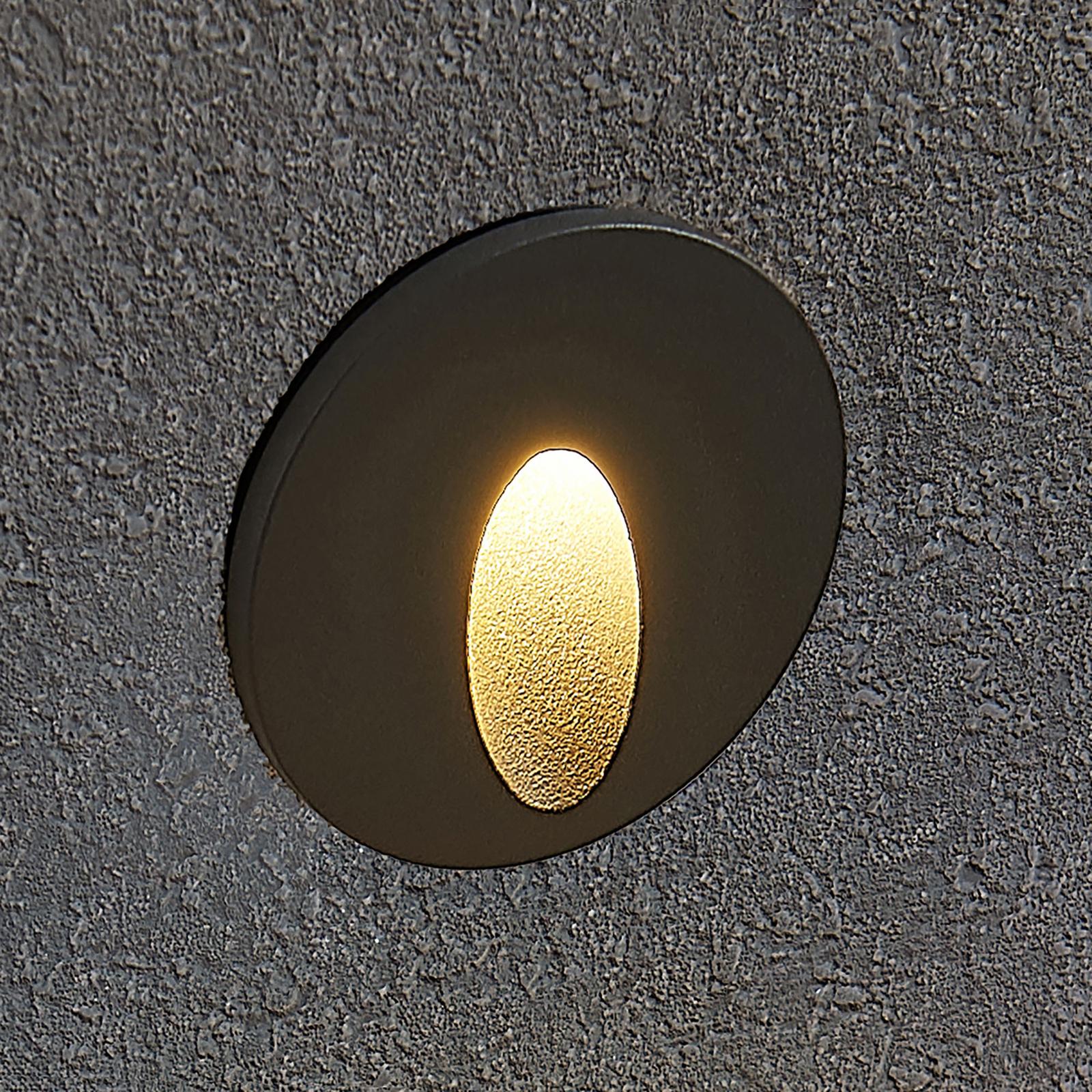Lucande Finnleya Applique LED, ronde