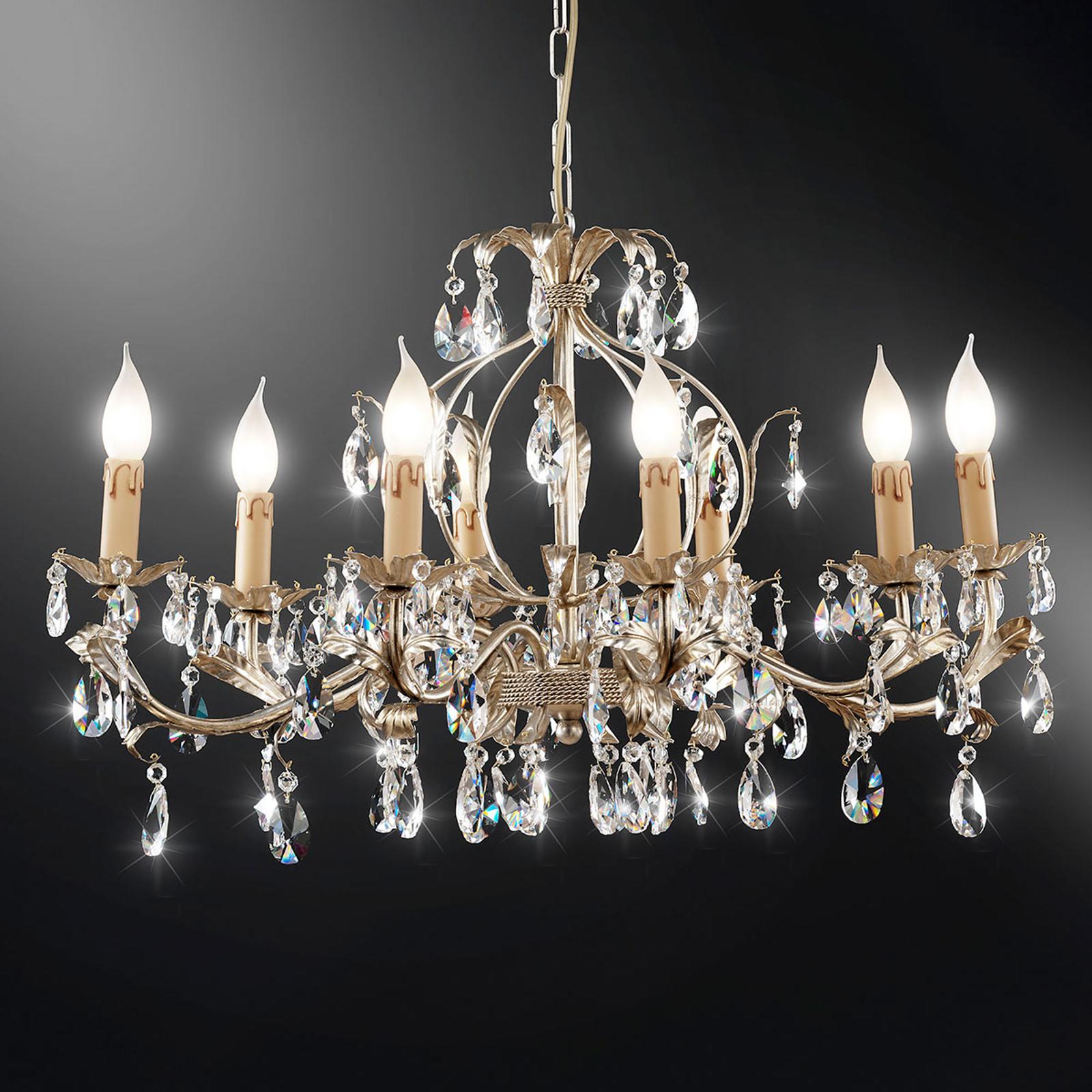 Kroonluchter 90/8 K, zilverkleuren, 8-lamps