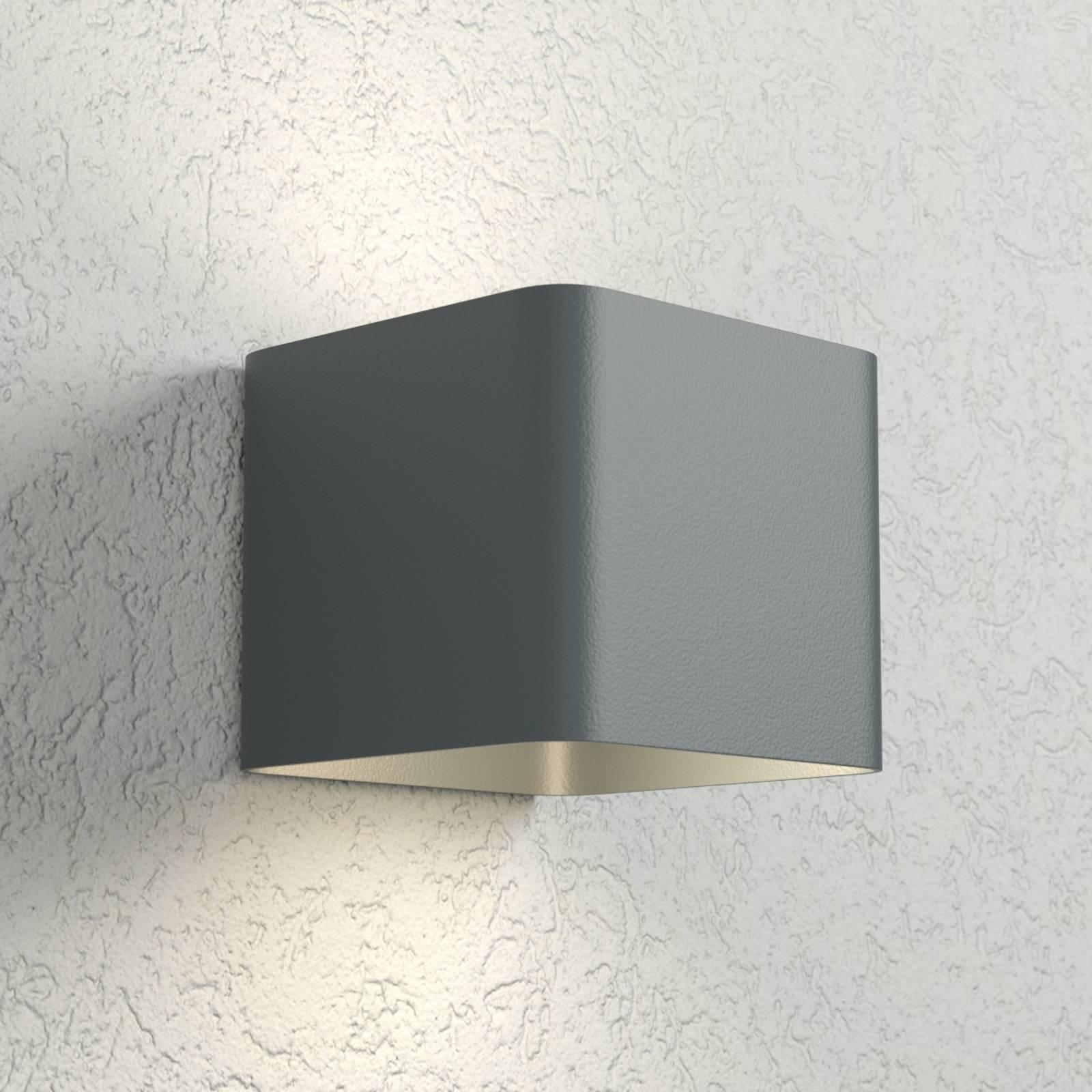 Antracietkleurige LED wandlamp Dodd