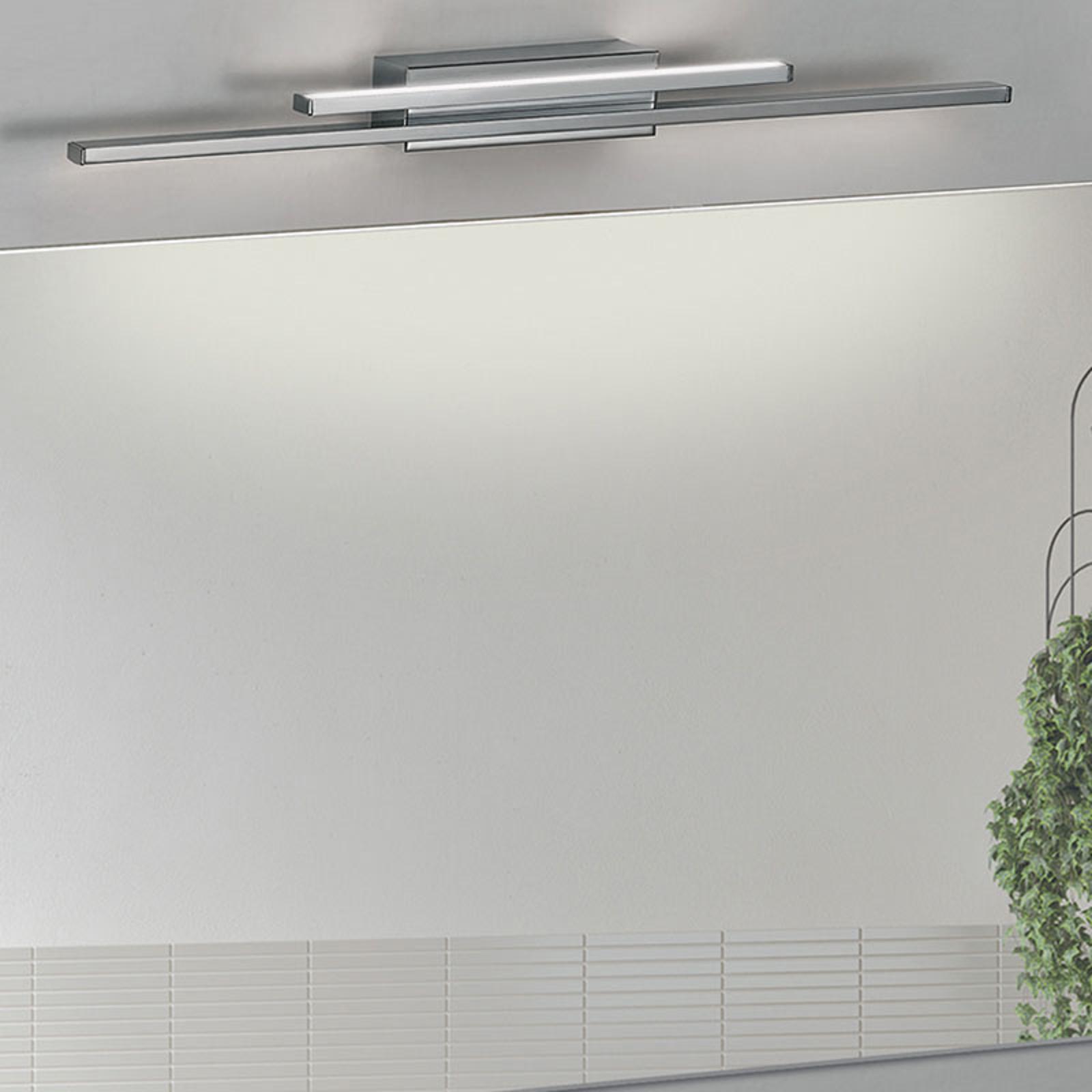 Applique salle de bain LED Dos, chromée, 2 l, IP44