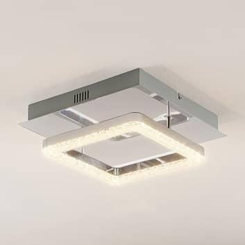 Lindby Charleen lámpara LED de techo, cromado