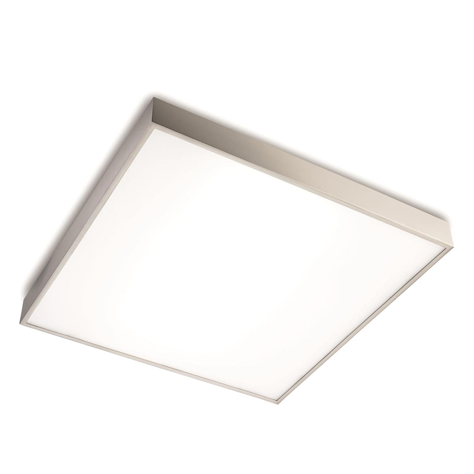 Plafondlamp Apolo IP44, 50 cm, nikkel