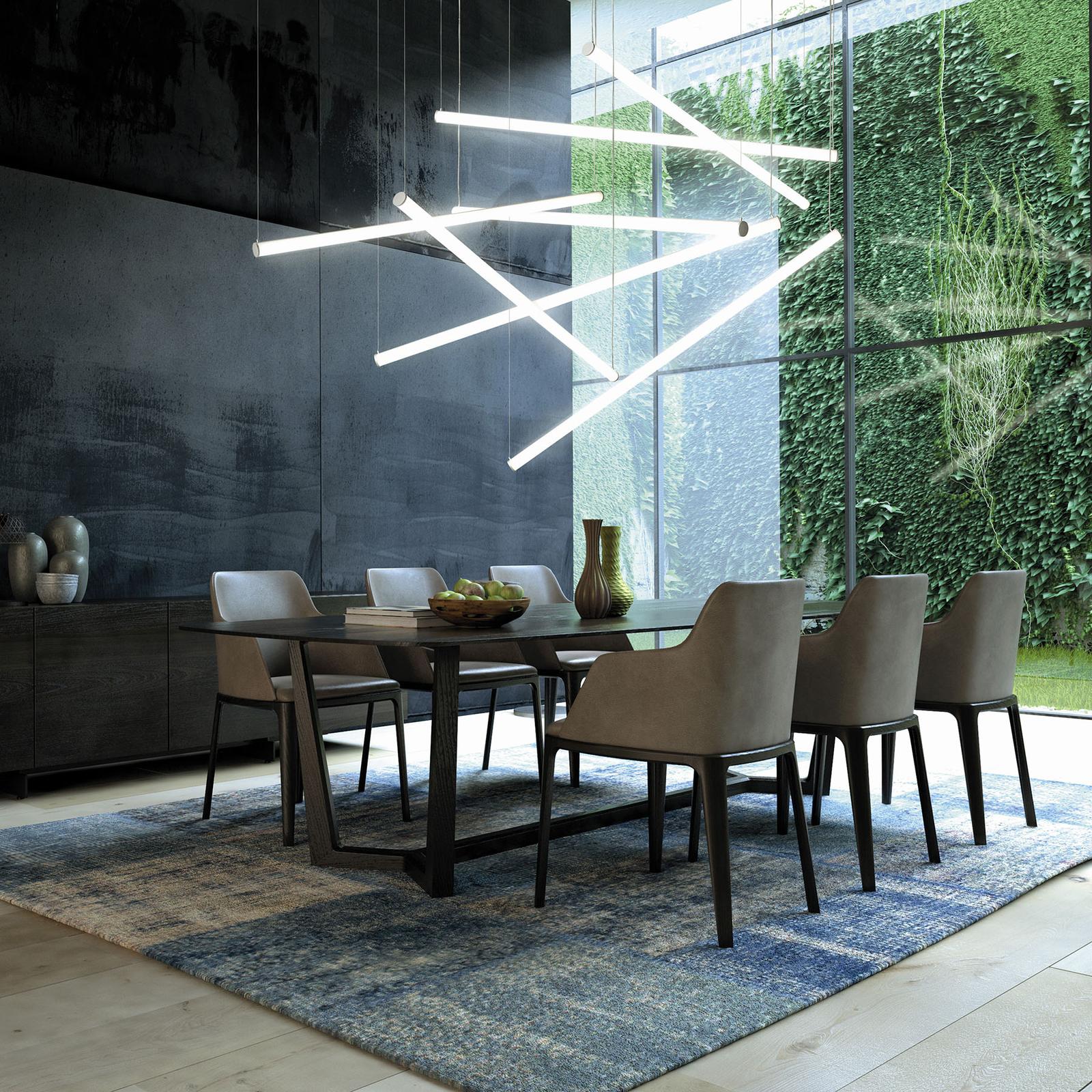 Lampa wisząca LED Pirgos ściemniana, długość 100cm