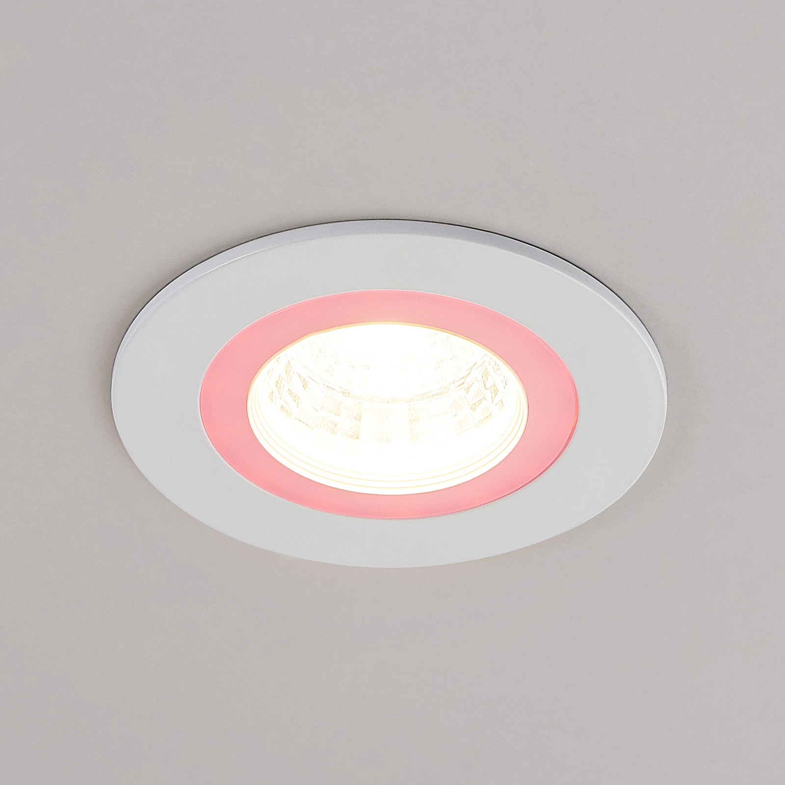 Lindby Noor LED-downlight RGBW, hvit