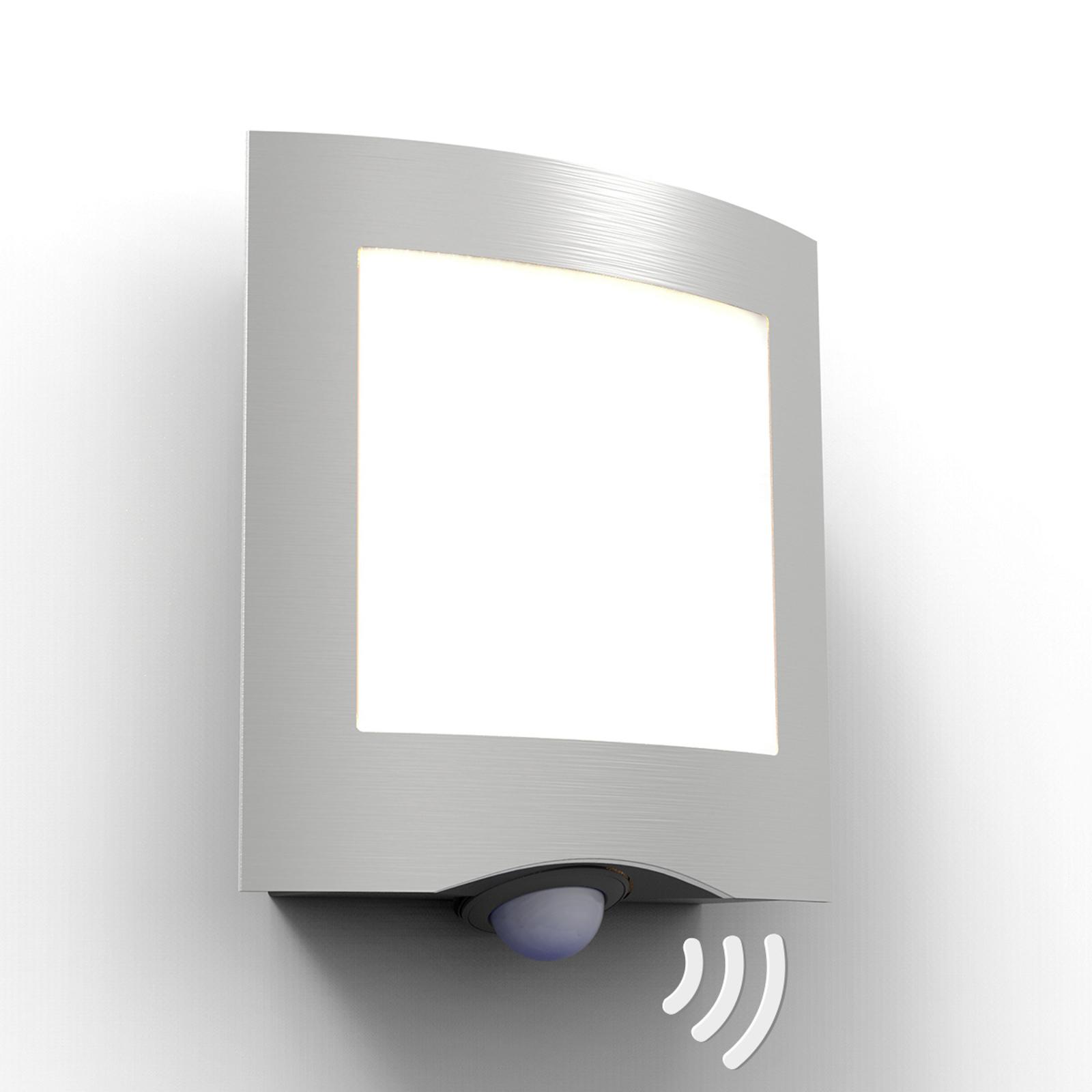 LED-Außenwandleuchte Farell, Edelstahl mit Sensor
